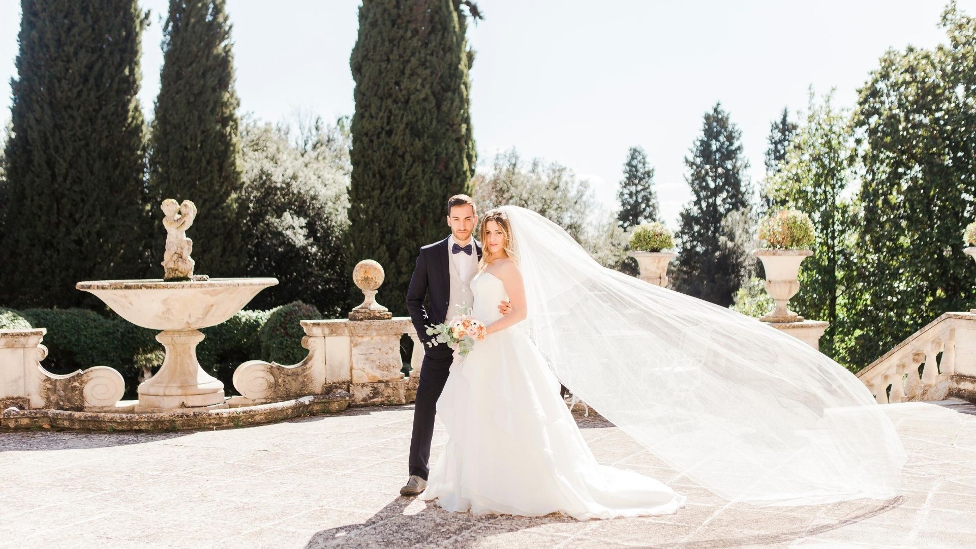 Velo da sposa mosso dal vento  - Dream On Wedding Planner & Design in Umbria