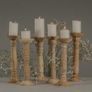 Candeliere in legno non trattato, setup
