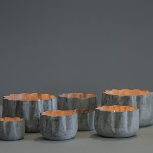 Contenitori in metallo galvanizzato, set da 4