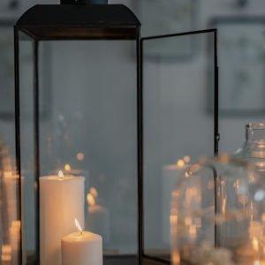Lanterna in vetro, frame in metallo, taglia large